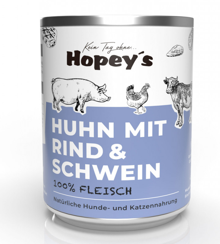 Dreierlei Fleisch für Hunde