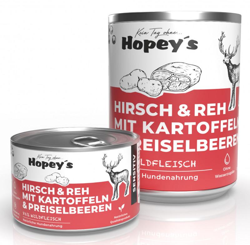Hypoallergenes Hundefutter Hirsch und Reh mit Kartoffeln
